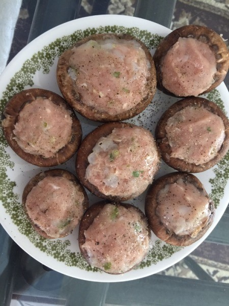 Ground Turkey Stuffed stuffed mushrooms