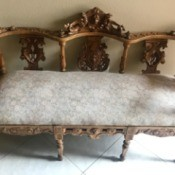 Value of Antique Love Seat - ornate wooden love seat