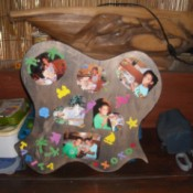 Scrapbook Photo Plaques - finished plaque