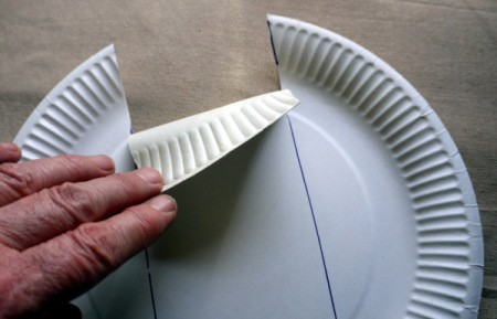 Paper Plate Cookie Gift Basket - fold in the ends