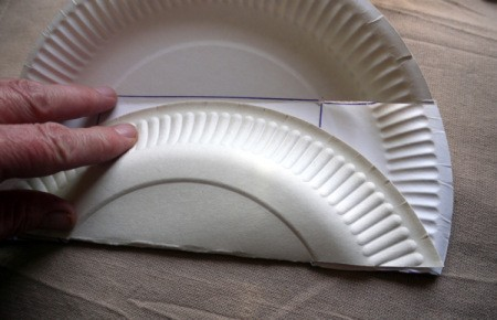 Paper Plate Cookie Gift Basket - fold along the long edges