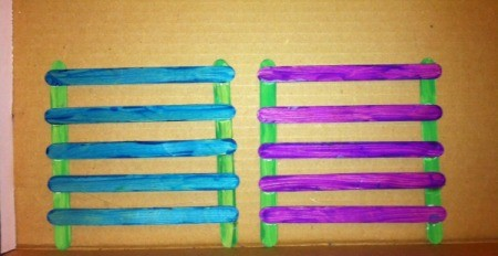 Craft Stick Earring Holder - create the second side the same way