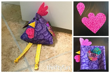 Fabric Chicken Doorstop