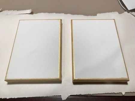 How to Mod Podge Cardstock to Canvas - when paint dries remove tape