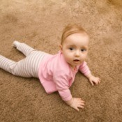 Little Girl on Carpet