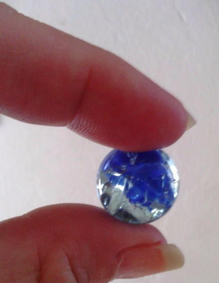 How to Make Crystallized Marbles - blue