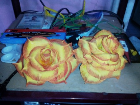 Rubber Foam Roses