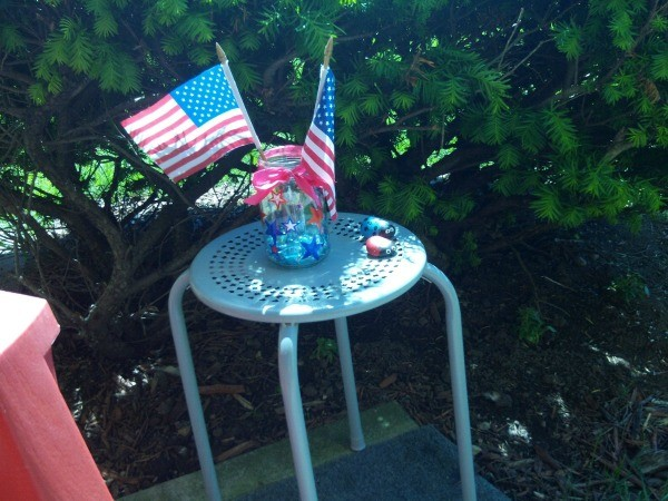 Patriotic Decorative Jar - finished flag jar decoration
