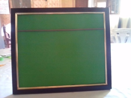 Frame of Shades for Father's Day - place cardboard back in frame