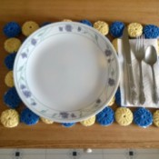 Crocheted Yo Yo Place Mat
