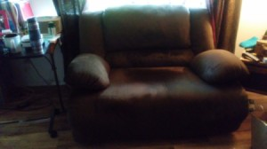 Finding a Cover for an Extra Wide Seat Cuddler Recliner - brown recliner