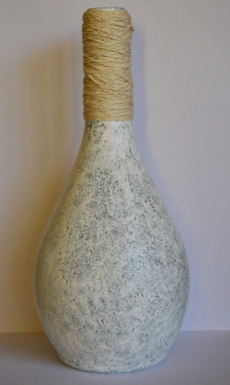 Sea Fever Recycled Bottle Vase - wrapped neck