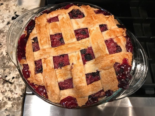 Easy Berry Pie baked