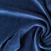 Blue velour fabric.