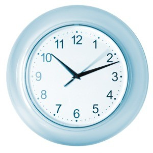An inexpensive wall clock.