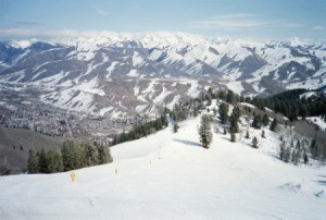 A ski slope in Sun Valley.