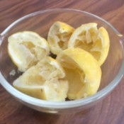 A bowl of leftover lemons.