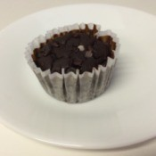 Chocolate Black Bean Blender Muffin on plate