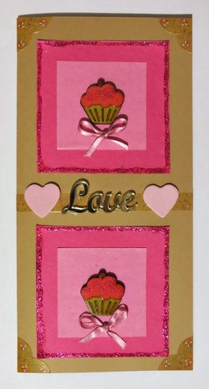element of double cupcake card