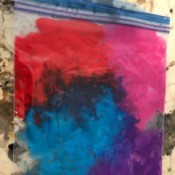 Mess Free Painting for Kids - Ziploc bag filled with paint