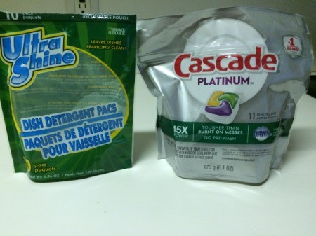 Bargain Dishwasher Pods at Dollar Tree - Dollar Tree and Cascade pod packages