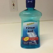Dollar Tree Rinse Aid  - bottle of dishwasher rinse aid