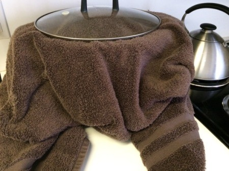 towel covered Slow Cooker