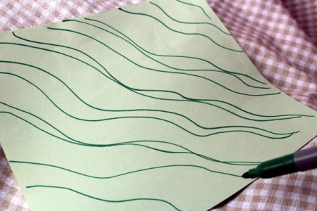 Paper Octopus - draw wavy lines to look like ripples