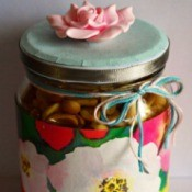 Delightful Jar Teacher's Appreciation Gift - nut filled decorated jar
