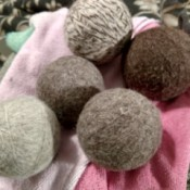 Using Dryer Balls - wool dryer balls