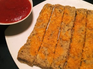 High Protein Cheesy Breadsticks (Flourless)