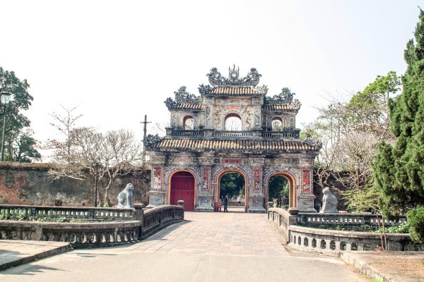 The Imperial City in Hue, Vietnam.