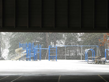 Snow At The Playground