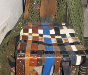 Chair Seat Made From Belts