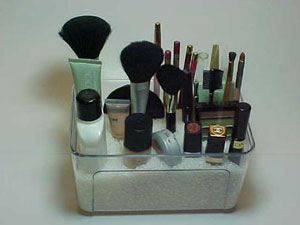 Organize Makeup Upright