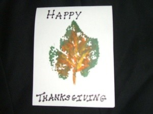 Holiday Leaf Cards