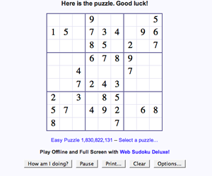 Online Game: Sudoku | ThriftyFun