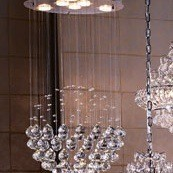 Making a crystal chandelier thriftyfun does anyone have an ideas on how to make these chandeliers for less any recommendations on what to use to adhere rhinestonesacrylic bubbles to lampshades mozeypictures Image collections