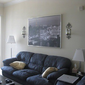 I Have A Dark Blue Gray Couch And Love Seat With Black TV Stand Coffee Table Am Looking To Paint My Walls But Want Put Up Some