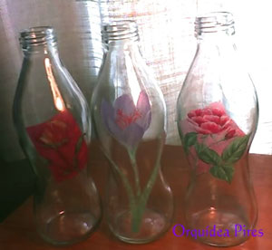Craft: Painted Glass Bottles