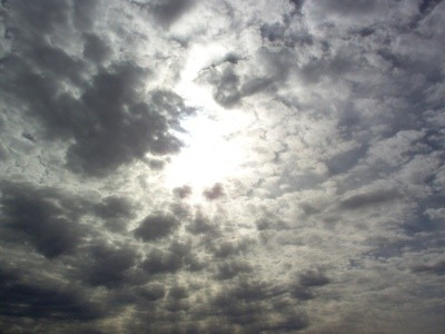 Scenery: Sun Behind Clouds