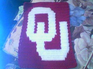 RE: Oklahoma Sooners Afghan Throw