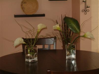 RE: Calla Lily centerpieces