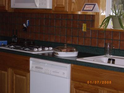 RE: Paint Advise for Dark Green Countertop and Terra Cotta Backsplash