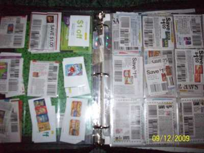 RE: Organize Coupons In Card Sheet Protectors
