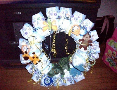 Making A Diaper Wreath Thriftyfun