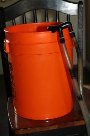 Vortex filter tubes in 5 gallon bucket
