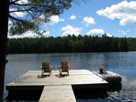 photo of the lake in Bancroft