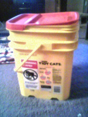 photo of cat litter containers