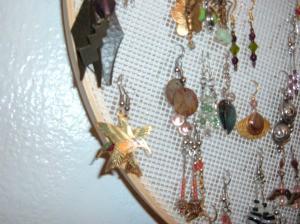 Photo of an earring holder